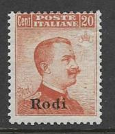 Italy Aegean Islands Rhodes Scott # 13 MNH Italy Stamp Overprinted, 1917, CV$400.00 - Aegean (Rodi)