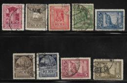 Italy Aegean Islands Rhodes Scott # 55-63 Used Various Subjects, 1932 - Aegean (Rodi)