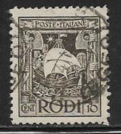 Italy Aegean Islands Rhodes Scott # 16 Used Galley, 1929 - Aegean (Rodi)