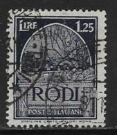 Italy Aegean Islands Rhodes Scott # 61 Used Crusaders Tomb, 1932 - Aegean (Rodi)