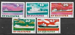 BULGARIA  1984  MEZZI DI TRASPORTO YVERT. 2831-2835 USATA VF - Bulgaria