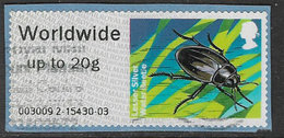 GB 2013 Freshwater Life (1st Series) Post And Go Worldwide To 20g Type 1 Used Code 003009 [32/177/ND] - Great Britain