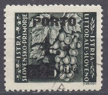 ISTRIA - 1946 - Yvert Tasse 10, Usato. - Yugoslavian Occ.: Istria
