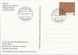 1285, La Suisse Vue Par Des Artistes étrangers, Chocolat, Obl. Neuchâtel 29.08.09 - Svizzera