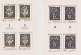 Czechoslovakia Scott 2090-2093 1976 Art, Sheetlets, Mint Never Hinged - Blocks & Sheetlets
