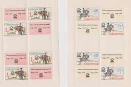 Czechoslovakia Scott 2116-2119 1977 Praga 78 Stamp Expo, Sheetlets, Mint Never Hinged - Blocks & Sheetlets