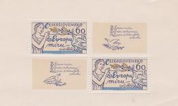 Czechoslovakia Scott 2136 1977 For A Europe Of Peace, Sheetlet, Mint Never Hinged - Blocks & Sheetlets