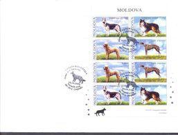 2006. Moldova, Dogs, FDC With Sheetlet, Mint/** - Moldawien (Moldau)