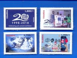 UGANDA 2019 New Stamps Issue 20 Years UCC Uganda Communication Commission 1998 - 2018  OUGANDA - Oeganda (1962-...)