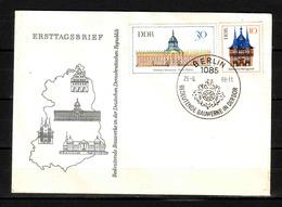 28d * DDR 1379,1382 * FDC1 BAUWERKE * 1968 ** !! - DDR
