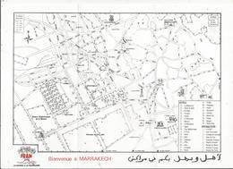 Publicité FRAM , Plan De MARRAKECH , MAROC ,frais Fr 1.45 E - Cartes Routières