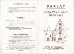 Plan De La Ville Médiévale De SARLAT, 6 Pages, 2 Scans ,frais Fr 1.55 E - Cartes Routières