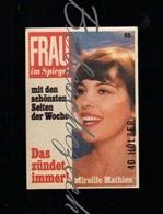E102 Vintage Germany Frau Im Spiegel German Weekly Magazine - Press - Mireille Mathieu - Zündholzschachteletiketten