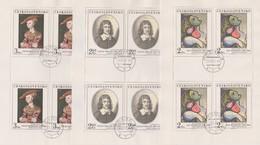 Czechoslovakia Scott 2147-2151 1977 Paintings, Sheetlets, Used - Blocks & Sheetlets