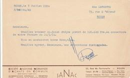 SANAC...ROUEN  1954 - France