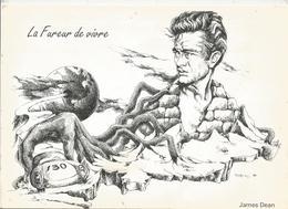 Dessin Signé Partarrieu ,artiste ,JAMES DEAN , Acteur Américain , Automobile , 30 X 21 ,frais Fr 1.95 E - Vieux Papiers