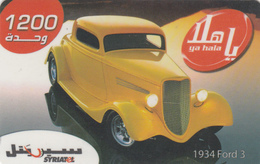 SYRIA - 1934 Ford Classic Car, 1200 Syrian Pound, Exp Date 31/12/2008, Used - Siria