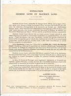 Publicité ,FONDATION GEORGE SAND ET MAURICE SAND , Noyant ,Gargilesse,INDRE ,2 Scans ,frais Fr 1.65 E - Publicités