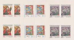 Czechoslovakia Scott 2209-2211 1978 Art, Sheetlets, Mint Never Hinged - Blocks & Sheetlets