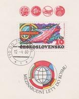 Czechoslovakia Scott 2226 1979 INTERCOSMOS Sheetlet, Used - Czechoslovakia