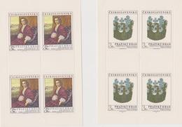 Czechoslovakia Scott 2238-2239 1979 Prague Castle Art, Sheetlets, Mint Never Hinged - Blocks & Sheetlets