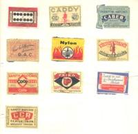 Lot De 10 Façades De Boîte D'allumettes - Etiquette - Publicité , Tabac,... (bac) - Boites D'allumettes - Etiquettes