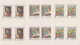 Czechoslovakia Scott 2265-2269 1979 Paintings, Sheetlets, Mint Never Hinged - Blocks & Sheetlets