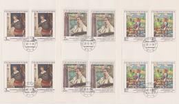 Czechoslovakia Scott 2265-2269 1979 Paintings, Sheetlets, Used - Blocks & Sheetlets