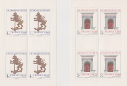Czechoslovakia Scott 2329-2330 1980  Prague Castle Art, Sheetlets, Mint Never Hinged - Blocks & Sheetlets