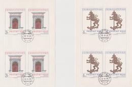 Czechoslovakia Scott 2329-2330 1980 Prague Castle Art, Sheetlets, Used - Blocks & Sheetlets