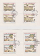 Czechoslovakia Scott 2331-2332 1980 Bratislava View, Sheetlets, Used - Blocks & Sheetlets