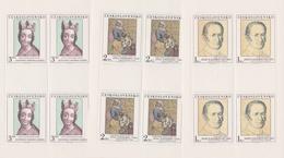 Czechoslovakia Scott 2335-2339 1980 Art, Sheetlets, Mint Never Hinged - Blocks & Sheetlets