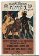 Ger467 / Deutschland, Mannheim, Ausstellung 1907, Sonderkarte Mit Passendem Stempel Nach Dresden - Allemagne