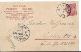 DK-W022 / Dänemark, Wappen, 2 Cent Auf Viewcard St. Thomas 1904 Nach Deutschland - Lettere