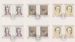 Czechoslovakia Scott 2335-2339 1980 Art, Sheetlets, Used - Blocks & Sheetlets