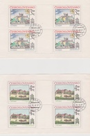 Czechoslovakia Scott 2364-2365 1981 Bratislave View, Sheetlets, Used - Blocks & Sheetlets