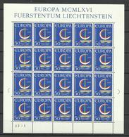 LIECHTENSTEIN --BLOCK EUROPA CEPT--1966 MNH - Ungebraucht