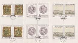 Czechoslovakia Scott 2386-2390 1981 Art, Sheetlets, Used - Blocks & Sheetlets