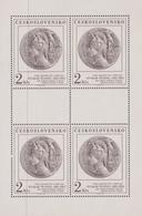 Czechoslovakia Scott 2387 1981 Art Academy Medallion, Sheetlet, Mint Never Hinged - Blocks & Sheetlets