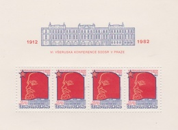 Czechoslovakia Scott 2392 1982 Russian Workers Party, Sheetlet, Mint Never Hinged - Blocks & Sheetlets
