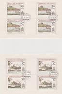 Czechoslovakia Scott 2422-2423 1982 Bratislava View, Sheetlets, Used - Blocks & Sheetlets