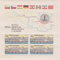 Czechoslovakia Scott 2425a 1982 Danube Commission Ferry, Sheetlet, Mint Never Hinged - Blocks & Sheetlets