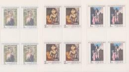 Czechoslovakia Scott 2437-2441 1982 Art, Sheetlet, Mint Never Hinged - Blocks & Sheetlets
