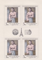 Czechoslovakia Scott 2438 1982 Art Philex France Woman Dressing, Sheetlet, Mint Never Hinged - Blocks & Sheetlets