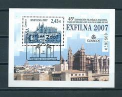 2007 Spain Complete M/Sheet Exfilna Used/gebruikt/oblitere - Blocks & Kleinbögen