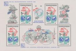 Czechoslovakia Scott 2517 1984 UPU Congress, Sheetlet, Mint Never Hinged - Blocks & Sheetlets
