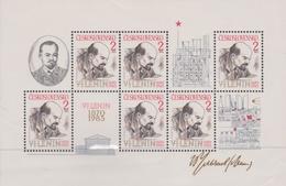 Czechoslovakia Scott 2550 1985 Lenin, Sheetlet, Mint Never Hinged - Blocks & Sheetlets