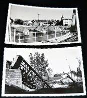 71 - LOUHANS - La Seille - Le Pont Chemin De Fer Bombardé  1944 ( WW2 ) Lot 2  Carte Photo Originale - Louhans
