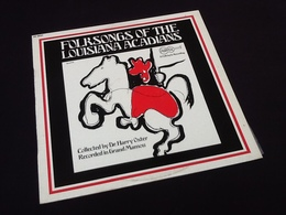 Vinyle 33 Tours Folksongs Of The Louisiana Acadians (1960) - Country Et Folk
