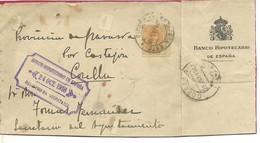 CARTA 1918  ESTAFETA ESTE MADRID A CORELLA      FRONTAL - 1889-1931 Reino: Alfonso XIII